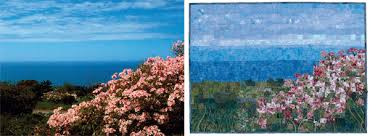 """Pictorial quilting: 4 picture-perfect approaches - Stitch This ... & Coastal Garden quilt """" Adamdwight.com"""