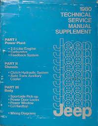 jeep j20 service manuals shop owner maintenance and repair faxon 1983 jeep shop manual supplement original