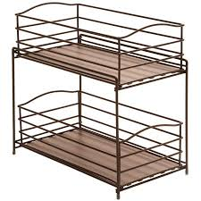 Kitchen Organizer Seville Classics 2 Tier Sliding Basket Kitchen Cabinet Organizer