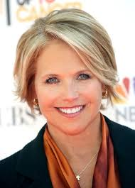 katie couric short hairstyle for women over 50