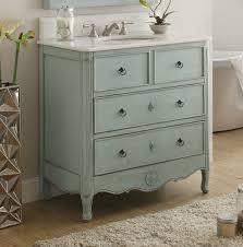 39 Bathroom Vanity 34 Inch Vanity Hf081lb Distressed Light Blue