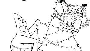 Spongebob Christmas Coloring Pages S Spongebob Christmas Coloring