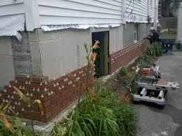 thin brick veneer being installed in west roxbury
