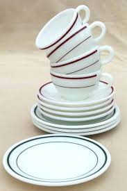 glass dishware sets green glass dinnerware sets red green band vintage milk glass dishes coffee cups glass dishware sets