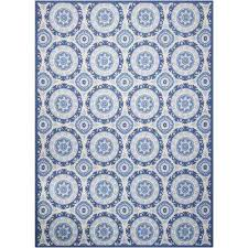 solar flair navy 8 ft x 11 ft indoor outdoor area rug