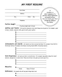 My First Resume Template My First Resume Template Time Job Examples ...