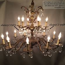 antique brass chandelier with crystals and learn how to re old in best and newest old