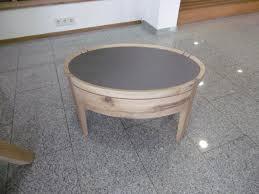 Voglauer Nachttisch Oval V Vaganto Wildeiche Rustico Glas Quarz