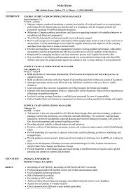 Supply Chain Operations Manager Resume Samples | Velvet Jobs