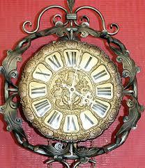 wm widdop wall clock in flame mahogany