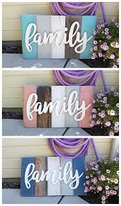 best diy crafts ideas for your home diy family word art sign woodworking project tutorial 3 color schemes of new w