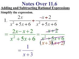9 2 adding subtracting rational expressions remember adding