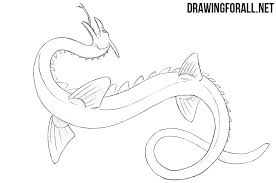 sea serpent drawings. Simple Sea How To Draw A Sea Serpent Throughout Drawings DrawingForAllnet