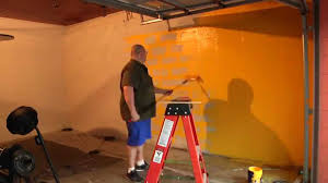 garage wall paintPainting Garage Gym Wall in under 100 Seconds  YouTube