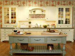 Country Kitchen With Island Country Kitchen With Wood Counters Kitchen Island In Portland