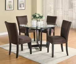 Modern Glass Kitchen Table Dining Table With Upholstered Chairs 25 Modern Dining Room