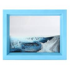 moving sand art picture glass sandscapes photo frame