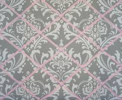 Damask Memo Board Inspiration Gray Pink White Damask French Ribbon Memo Board Kids Room