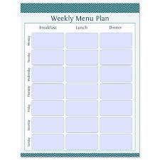 Weekly Menu Planner Fillable Printable Pdf Instant Download