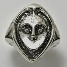 crone ring 925 sterling silver size 6 wise owl woman ring dess crone from