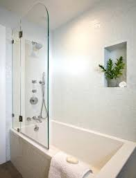 tile around tub shower combo tub shower combo soaking tub with shower half door white square tile glass wall shower mosaic one piece bathtub shower combo