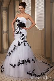black wedding dresses white and black wedding gowns snowybridal