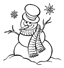 Disegni Di Pupazzi Di Neve Da Colorare Unadonna