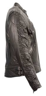 las leather lightweight black racer jacket w crinkled arm detailing mll2571 the ok boot corral