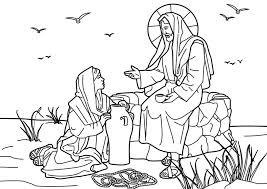 Small Picture coloring picture jesus christ the samaritan woman well 463037