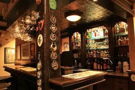 English Pub style basement traditional-basement