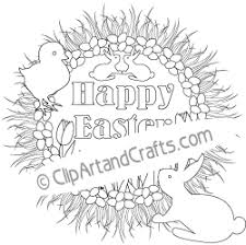 Easter Wreath Coloring Design Sheet