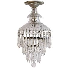 petite 1920s crystal wedding cake chandelier for
