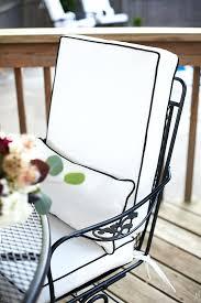black and white patio chair cushions black white stripe outdoor chair cushions