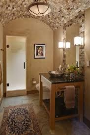 half bathroom ideas with vessel. mediterranean 3/4 bathroom with vessel sink, powder room, terracotta tile floors, half ideas