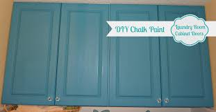 diy chalk paint laundry room cabinet doors 2