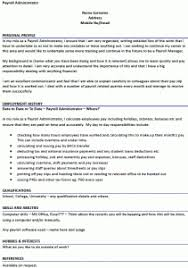 payroll administrator cv example icoverorguk payroll administration resume