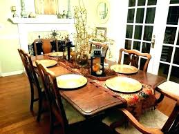 dining room table setting ideas fall decorating dinner centerpiece round decor everyday d