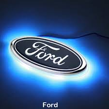 cool ford logos. led car logo light auto rear emblem lamp for ford focus mondeo blue cool logos