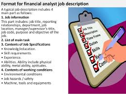 good project management skills 4 format for financial analyst job description benefits analyst job description