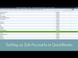 How To Set Up Sub Accounts In Quickbooks