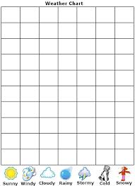 Blank Weather Data Chart Free Printable Weather Chart Preschool Weather Weather