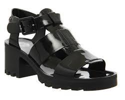 JuJu Kyra Heels Black Mono Sandals