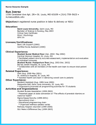 Professional Nursing Resume Professional Nursing Resume Template Objective For Registered Nurse 15
