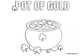 Pot Of Gold Color Sheets Coloring A Sparkling Pot Of Gold For St Day Coloring Page