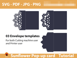 Download free happy mother's day card templates and customize your own design to use online by downloading this free mother's day card pack, you agree not to resell or redistribute these assets. Sunflower Greeting Card Template Graphic By Lasquare Info Creative Fabrica