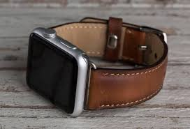 <b>Genuine Leather</b> Brown <b>Band for</b> Apple Watch – O2Leather