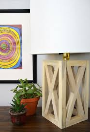 Diy Lamp And Chic Wooden Table Lamp Diy