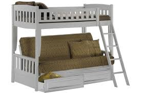 white bunk bed sofa wood futon bunk sofa bed white the futon rh thefuton com bunk beds with sofa and desk bunk beds with sofa