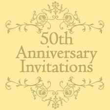 Free 50th Wedding Anniversary Invitations Templates Mom Dad