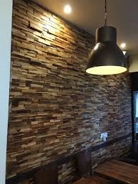 wooden split face tiles wall cladding only 34 99 per m2